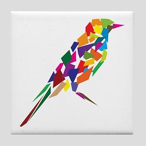 Abstract Bird Tile Coaster