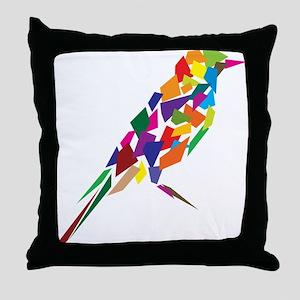 Abstract Bird Throw Pillow