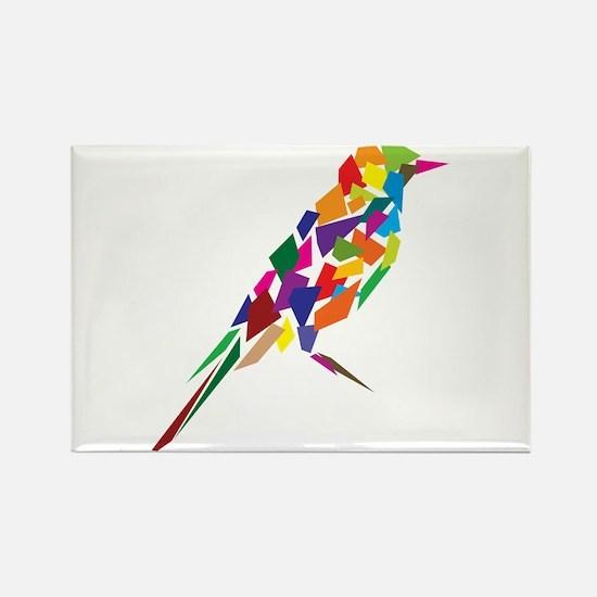 Abstract Bird Rectangle Magnet