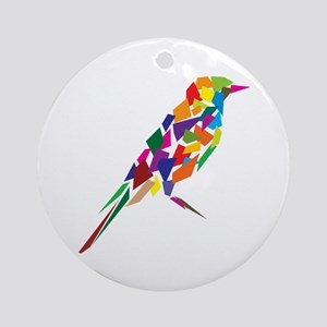 Abstract Bird Ornament (Round)