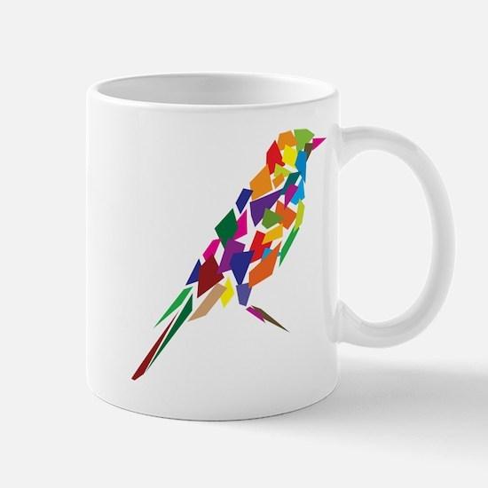 Abstract Bird Mug