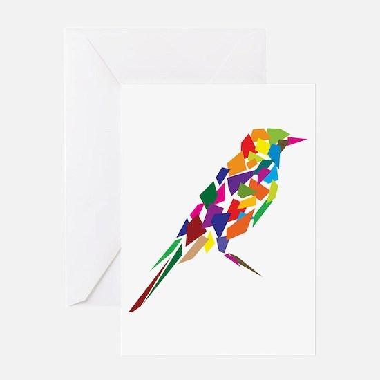 Abstract Bird Greeting Card