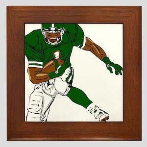 FOOTBALL *29* {green} Framed Tile