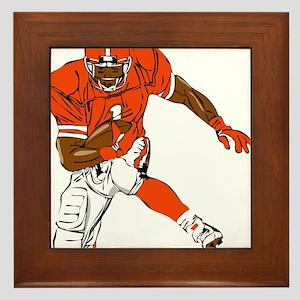 FOOTBALL *29* {orange} Framed Tile