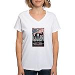 """PATRIOT Act"" Women's V-Neck T-Shirt"
