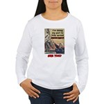 """Spread Democracy"" Women's Long Sleeve T-Shirt"
