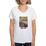 """""""Spread Democracy"""" Women's V-Neck T-Shirt"""