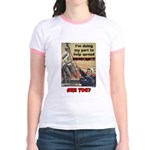 """""""Spread Democracy"""" Jr. Ringer T-Shirt"""