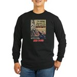 """Spread Democracy"" Long Sleeve Dark T-Shirt"