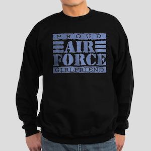 Proud Air Force Girlfriend Sweatshirt (dark)