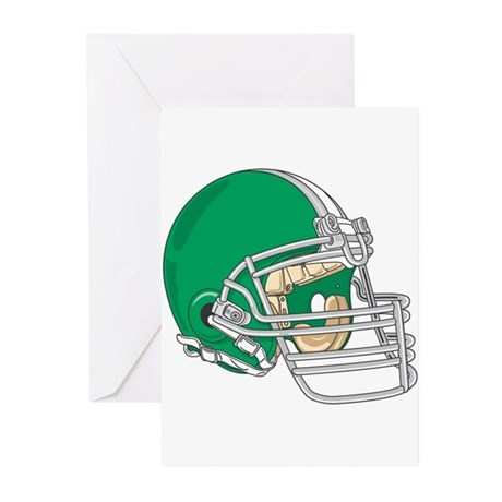 HELMET *4* {green} Greeting Cards (Pk of 20)
