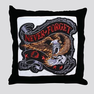 pow/mia never again Throw Pillow