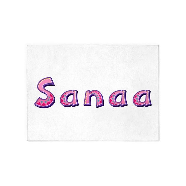Sanaa Pink Giraffe 5'x7' Area Rug By Namestuff_pinkgiraffe_mz