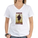 """Torture is Terror"" Women's V-Neck T-Shirt"