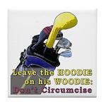 Woodie-Hoodie Tile Coaster