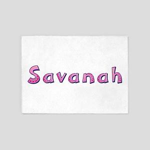 Savanah Pink Giraffe 5'x7' Area Rug