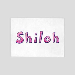 Shiloh Pink Giraffe 5'x7' Area Rug