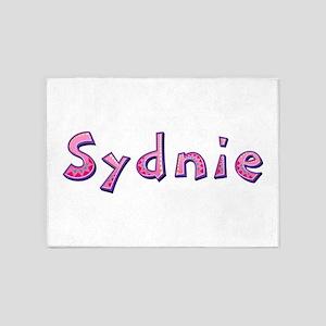Sydnie Pink Giraffe 5'x7' Area Rug