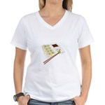 Sushi Women's V-Neck T-Shirt