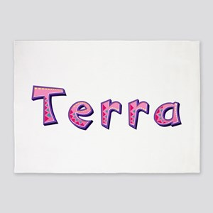 Terra Pink Giraffe 5'x7' Area Rug