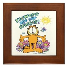 Flowers Are Our Friends! Framed Tile