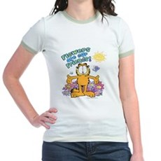 Flowers Are Our Friends! Jr. Ringer T-Shirt