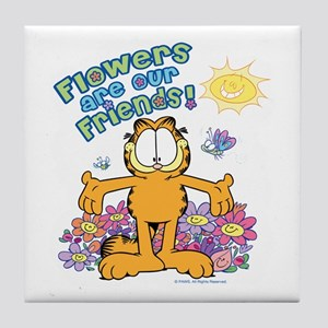 Flowers Are Our Friends! Tile Coaster
