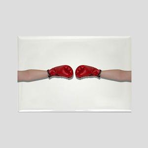 Boxing Handshake Rectangle Magnet