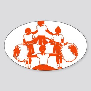 CHEER *1* {orange} Sticker (Oval)