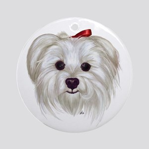 Maltese Ornament (Round)