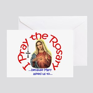 Pray the Rosary - Greeting Card (g)