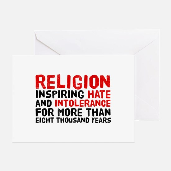 Death by Religion Greeting Card