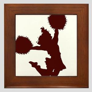 CHEER *10* {crimson} Framed Tile