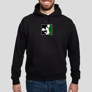 CHEER *11* {green/black/white Hoodie (dark)