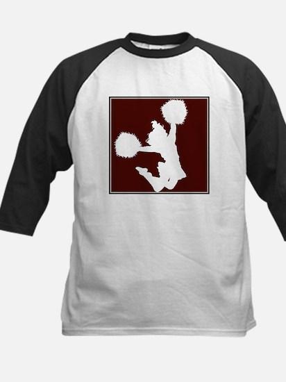 CHEER *11* {crimson/white} Kids Baseball Jersey