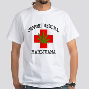 Support Medical Marijuana White T-Shirt
