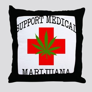 Support Medical Marijuana Throw Pillow