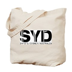 Sydney Australia Airport Code SYD Tote Bag