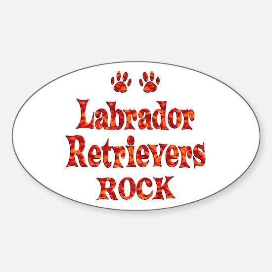 Labrador Sticker (Oval)
