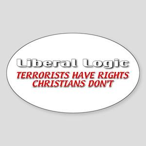 Liberal Logic Sticker (Oval)