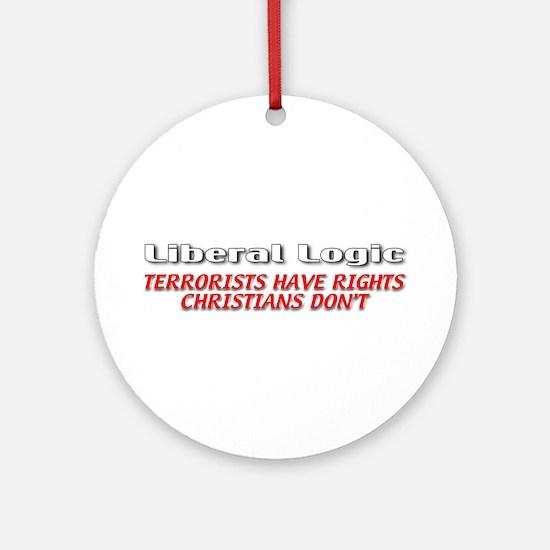 Liberal Logic Ornament (Round)
