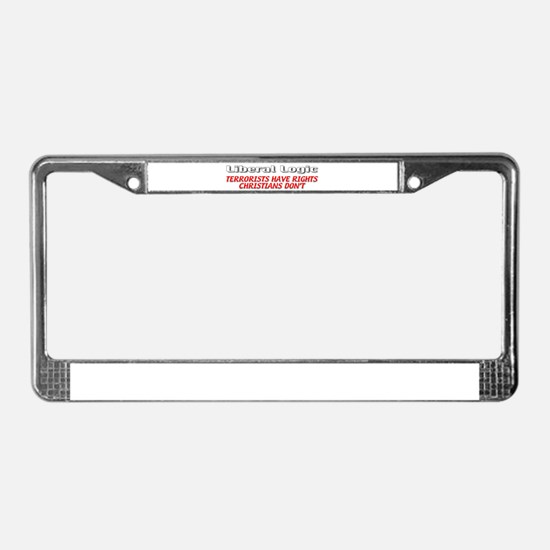 Liberal Logic License Plate Frame