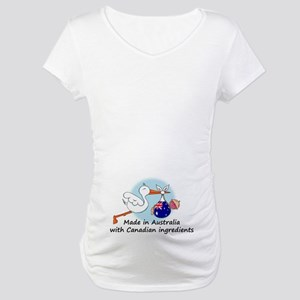 Stork Baby Australia Canada Maternity T-Shirt
