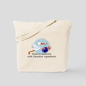 Stork Baby Australia Canada Tote Bag