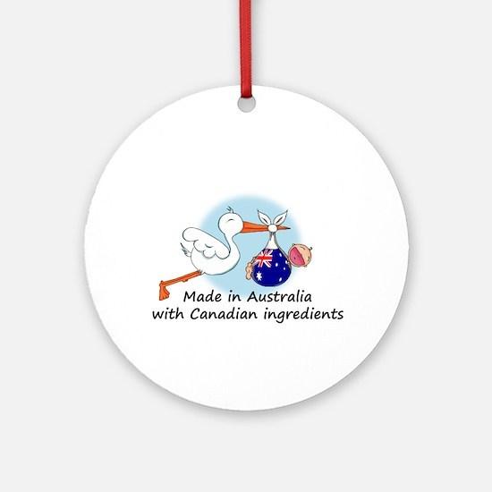 Stork Baby Australia Canada Ornament (Round)