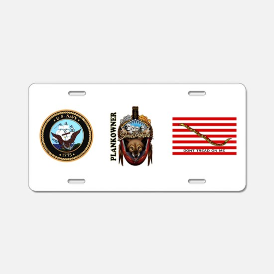 SSN-790 Plankowner Aluminum License Plate