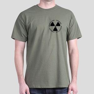 Radiation Symbol w/ Text Dark T-Shirt
