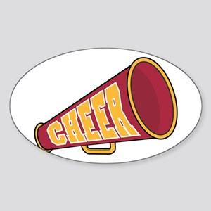 MEGAPHONE *1* {red/yellow} Sticker (Oval)