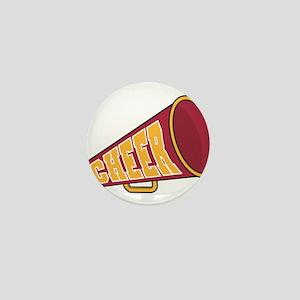 MEGAPHONE *1* {red/yellow} Mini Button