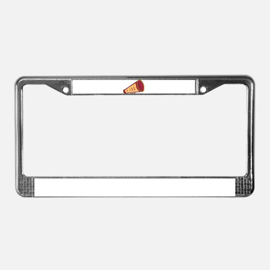MEGAPHONE *1* {red/yellow} License Plate Frame